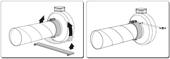 Монтаж канального вентилятора Salda VKAP