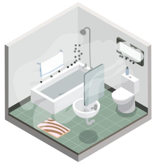 проблемы в ванной без вентиляции