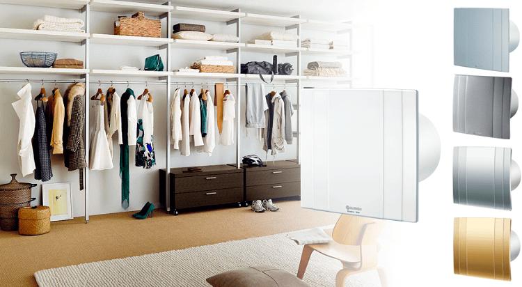 Вентиляция в гардеробной - вытяжные вентиляторы Blauberg